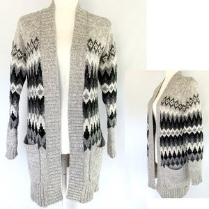 AEO Over-sized Long Open Front Knit Cardigan